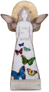 "Love One Another by Sherry Cook Studio - 11.5"" Self-Standing Angel"