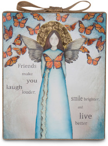 "Friend by Sherry Cook Studio - 6.5"" x 5.25"" Plaque"