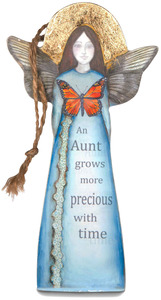 "Aunt by Sherry Cook Studio - 5.25"" Butterfly Angel Ornament"
