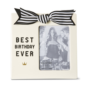 "Best Birthday Ever by The Milestone Collection - 7"" x 7"" Frame (Holds 3.5"" x 5"" Photo)"