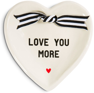 "Love You More by The Milestone Collection - 4.5"" x 4.5"" Heart-Shaped Keepsake Dish"