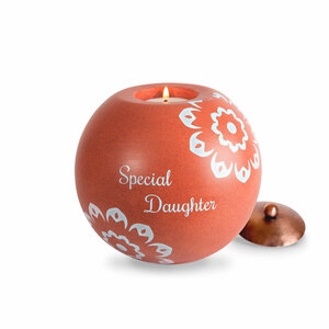 "Daughter by Cinnamon Swirl - 5"" Round Candle Holder"