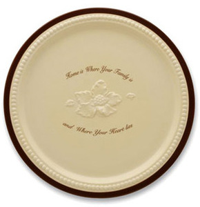 "Family & Home by Shared Blessings - Dinner Plate (Set of 2) 11""D"