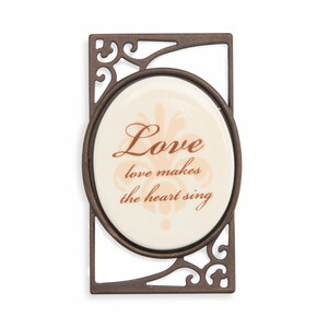 "Love (Set of 6) by Simply Stated - 1.5""Wx2.5""H Magnet w/Scroll"
