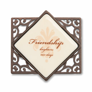 "Friendship (Set of 6) by Simply Stated - 2.25"" Wx2""H Magnet w/Scroll"