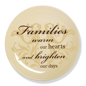 "Family by Simply Stated - 8""Plate w/Metal Scroll Stand"