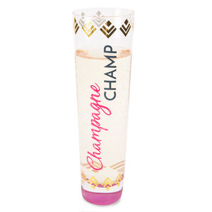 Champagne Champ by My Kinda Girl - 8 oz. Stemless Champagne Flute
