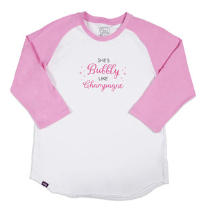 Girly Girl by My Kinda Girl - S - 3/4 Length Sleeve Ladies T-Shirt