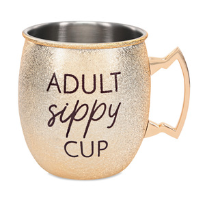 Sippy Cup by My Kinda Girl - 20 oz Stainless Steel Moscow Mule