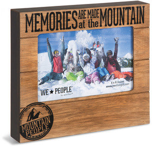 "Mountain People by We People - 6.75"" x 7.45"" Frame (holds 4"" x 6"" photo)"