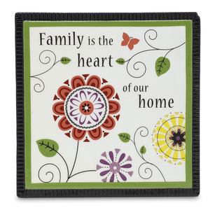 "Family by Groovy Garden - 6"" Ceramic Trivet"