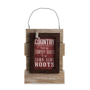 "Country People by We People - 5.25"" Self Standing or Hanging Plaque"
