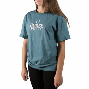 Horse People by We People -  Small Steel Blue Unisex T-Shirt
