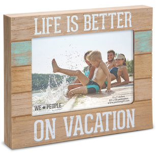 "Vacation People by We People - 9"" x 7.25"" Frame (Holds 5"" x 7"" photo)"