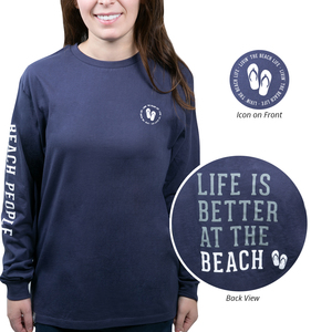 Beach People by We People - Small Navy Unisex Long Sleeve T-Shirt