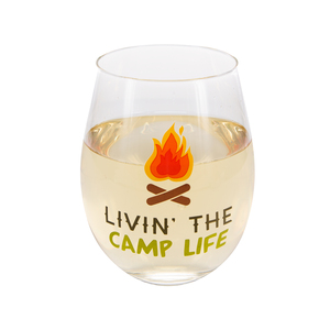 Livin' the Camp Life by We People - 18 oz Stemless Wine Glass