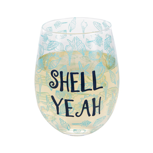 Shell Yeah by We People - 18 oz Stemless Wine Glass
