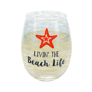 Livin' the Beach Life by We People - 18 oz Stemless Wine Glass