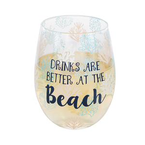 At the Beach by We People - 18 oz Stemless Wine Glass