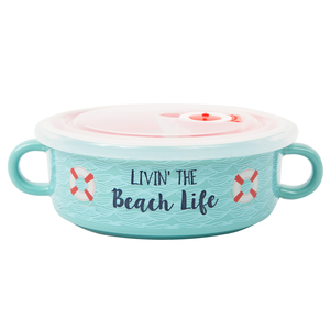 Beach Life by We People - 13.5 oz Double Handled Soup Bowl with Lid