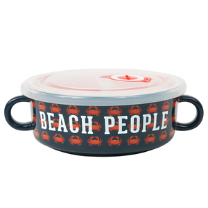 Beach People by We People - 13.5 oz Double Handled Soup Bowl with Lid