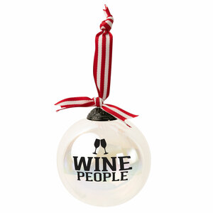 "Wine People by We People - 4"" Iridescent Glass Ornament"
