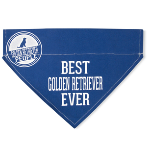 "Best Golden Retriever by We Pets - 12"" x 8"" Canvas Slip on Pet Bandana"