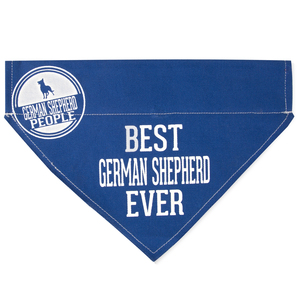 "Best German Shepherd by We Pets - 12"" x 8"" Canvas Slip on Pet Bandana"