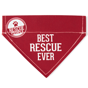 "Best Rescue by We Pets - 7"" x 5"" Canvas Slip on Pet Bandana"