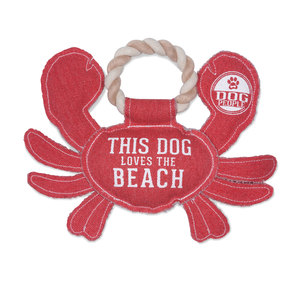 "Beach Dog by We Pets - 10.75"" x 8"" Canvas Dog Toy on Rope"