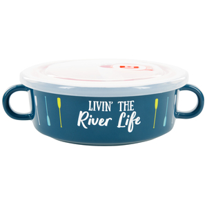 River Life by We People - 13.5 oz Double Handled Soup Bowl with Lid
