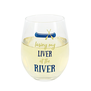 Losing my Liver by We People - 18 oz Stemless Wine Glass