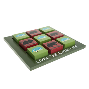 "Camp by We People - 9.75"" MDF Tic-tac-toe Set"