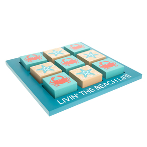 "Beach by We People - 9.75"" MDF Tic-tac-toe Set"