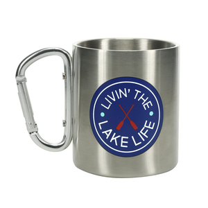 Lake by We People - 10 oz Stainless Steel Carabiner Mug