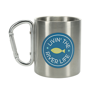 River by We People - 10 oz Stainless Steel Carabiner Mug