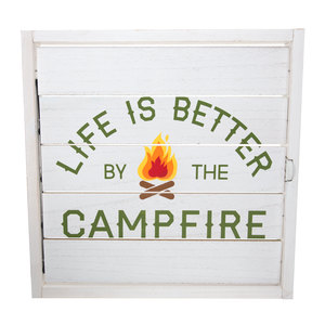 "Campfire by We People - 14.5"" Decorative Framed Window Shutter"
