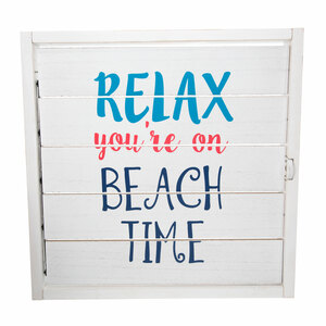 "Beach Time by We People - 14.5"" Decorative Framed Window Shutter"