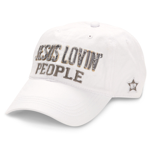 Jesus Lovin' People by We People - White Adjustable Hat