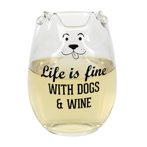 Life by We Pets - 18 oz Dog Stemless Wine Glass