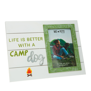 "Camp Dog by We Pets - 10.5"" x 8"" Frame (Holds 6"" x 4"" Photo)"