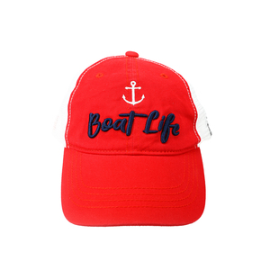 Boat Life by We People - Red Adjustable Mesh Hat