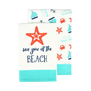 "Beach by We People - Tea Towel Gift Set (2 - 19.75"" x 27.5"")"