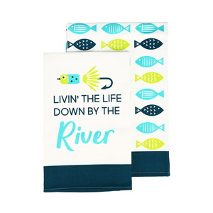 "River by We People - Tea Towel Gift Set (2 - 19.75"" x 27.5"")"