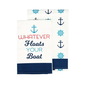 "Boat by We People - Tea Towel Gift Set (2 - 19.75"" x 27.5"")"