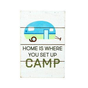 "Home Camp by We People - 4"" x 6"" MDF Plaque"