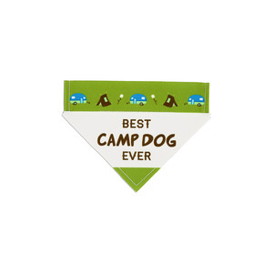 "Camp Dog by We Pets - 7"" x 5"" Canvas Slip on Pet Bandana"