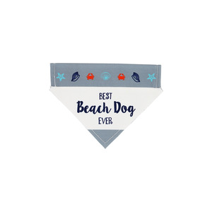 "Beach Dog by We Pets - 7"" x 5"" Canvas Slip on Pet Bandana"