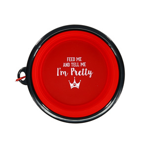 "Pretty by We Pets - 7"" Collapsible Silicone Pet Bowl"