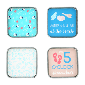 "Beach by We People - 4"" (4 Piece) Coaster Set"